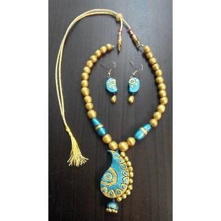 Terracotta Blue Necklace Set