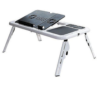 Folding Multi Purpose Portable Laptop Table with 2 USB Cooling fan available at ShopClues for Rs.499
