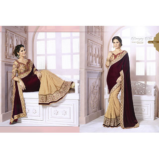 Designer Party Wear Embroidered Saree available at ShopClues for Rs.4226