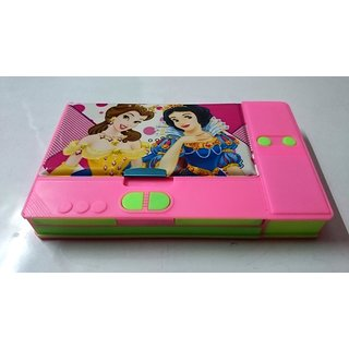 Gift Chachu Princes Pink 3 Compartment Pencil Box - Pink Green - Gift