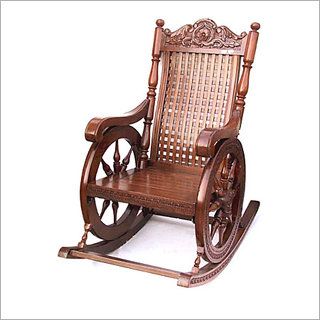 Shilpi Hand Carved Wooden Rocking Chair-2