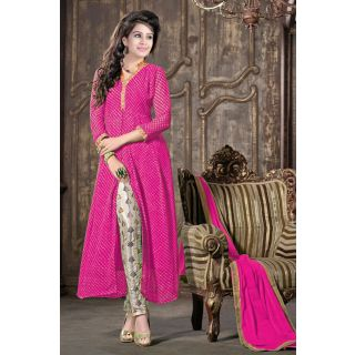 Marvelous Pink Semi Stitched Party Wear Straight Pant EBSFSK17703E