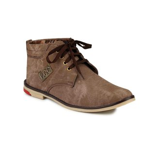 Nee Mens Brown Lace Up Boots