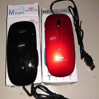 Terabyte USB Mouse, SLEEK And Well-designed - Color Red And Black
