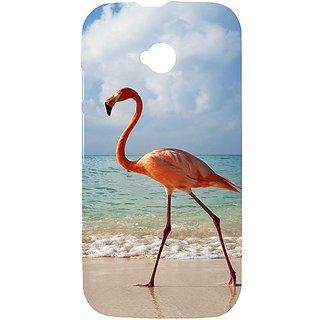 Casotec Egret Bird On Sea Design Hard Back Case Cover For Motorola Moto E 2Nd Generation