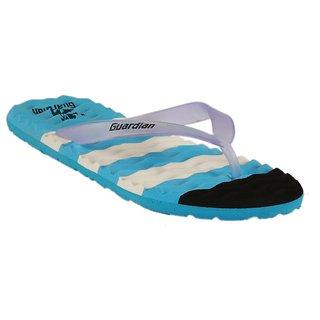 Mens Blue Black Slippers