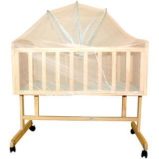 BayBee Shoppee Baby Land Cradle Wooden color 2900562