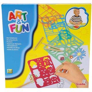 Simba Art and Fun Stencil Set Multi Color