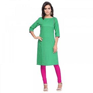 Sareemall Green Designer Cotton Kurti AYKG1006