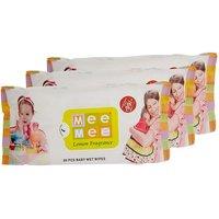 Mee Mee Baby Wet Wipes (3 Packs 80 Sheets Per Pack)