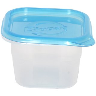 Biopac Food storage container  lid-square-946ml Pack-4