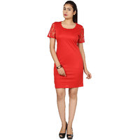 Stylish Dress by Klick DRS1033 Red