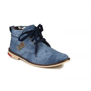 Nee Mens Blue Lace-up Casual Shoes