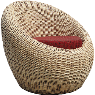 Rattan Cane Apple Chair Living Room Furniture