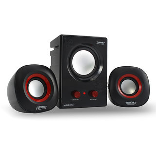 Zebronics 2.1 Multimedia Speakers Micro Drum Plus