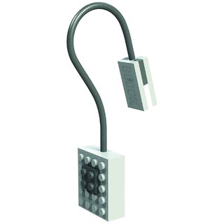 Block Light White with Flexible Neck