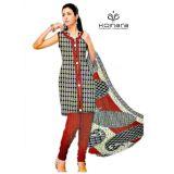 Koinara Designer Brown Light Apricot Cotton Dress Material Clone En 2