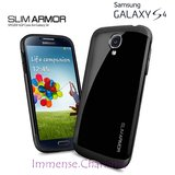 Samsung Galaxy S4 I9500 SPG SPIGEN Slim Armor Back Case Cover Hybrid BLACK COLOR