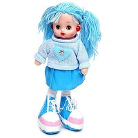Tickles Blue Doll with light and music Stuffed Soft Plush Toy Love Girl 35 cm