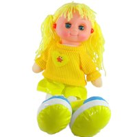 Tickles Yellow Doll with light and music Stuffed Soft Plush Toy Love Girl 30 cm