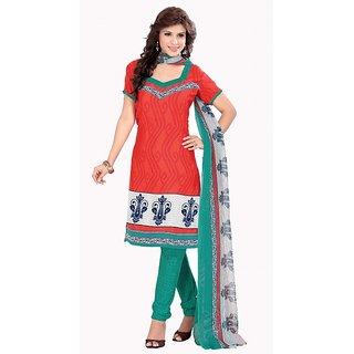 Parisha Multicolor Georgette Printed Salwar Suit Dress Material