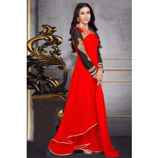 Stupendous Red Semi Stitched Party Wear Anarkali EBSFSK17704H