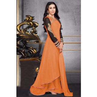 Attractive Orange Semi Stitched Party Wear Anarkali EBSFSK17704I