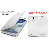 SAMSUNG GALAXY NOTE 2 II N7100 BATTERY BOOK FLIP COVER CASE WITH NFC CHIP - WHITE