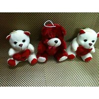 IDeals - Set Of 3 Valentine Teddy Bears-  Adorable And Huggable Tested As Per Am - 1845428