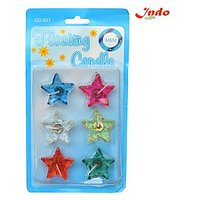 Indo Star Floting Gel Candle Set Of 6