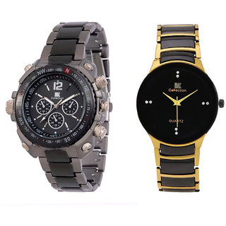 Jack Klein Digital Watch + Jack Klein Black Round Dial Watch For Boys, Men