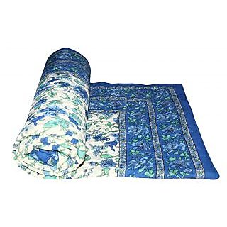 Marwal Blue Jaipuri Hand Made Block Print  Singal Bed Quilts