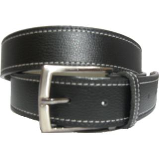Trendy Stitched Men's Black Belt