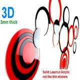 Wall Sticker For Wall Decor - JB019S Circle - 3D 3mm Thick Acrylic - Removable