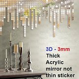 Wall Sticker For Wall Decor - JB041S Square - 3D 3mm Thick Acrylic - Removable