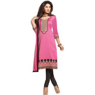 Kvsfab Khaki Dupion Silk Lace Salwar Suit Dress Material