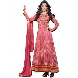 Kvsfab Pink Chanderi Embroidered Suit (8101 MUG)