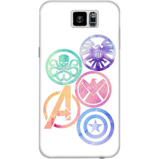 The Fappy Store marvel insignias plastic back cover for Samsung galaxy s6
