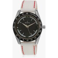 Av64blksil White/Black Analog Watch