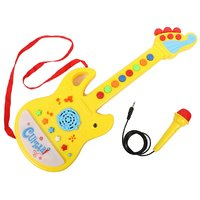 Tickles Yellow Musical Guitar with Microphone Stuffed Soft Plush Toy 45 cm