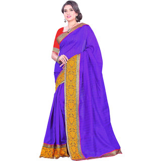 Prafful Bhagalpuri Silk Purplesaree With Unstiched Blouse GS98333