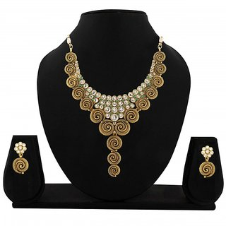 Zaveri Pearls Traditional Designer Necklace Set For Women-ZPFK05