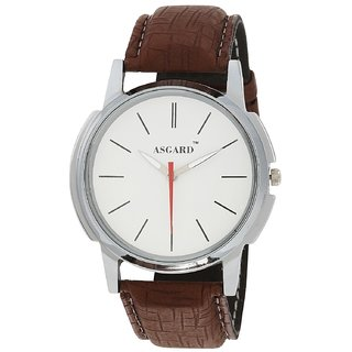 ASGARD SIL-WHITE SOLO Analog White Dial Mens Watch
