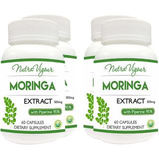 Moringa Extract 60 Capsules 4 Bottles