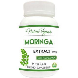 Moringa Extract 60 Capsules One Bottle