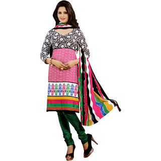 VAP Mart Womens  Cotton Suit Unstiched Dress Material with matching Cotton Dupatta
