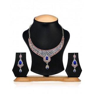 Zaveri Pearls Designer Diamond Necklace Set For Women -ZPFK28