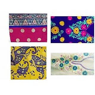Designer Pack of 4 Chanderi Suits