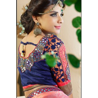 Designer Embroidered Party Wear Latest Saree available at ShopClues for Rs.3858