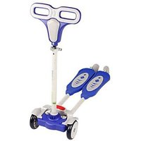 The FlyerS Bay 4 Wheel Flip Flop Scoote (Blue)